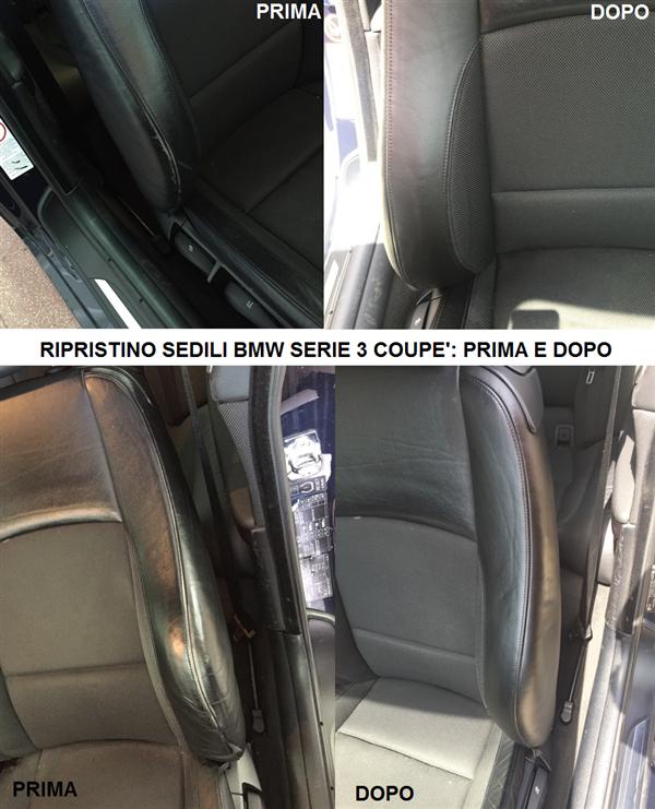 ripristino interni auto turone sedili bmw serie 3 coupe