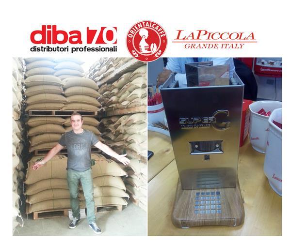 nei giorni scorsi claudio guazzini diba 70 in visita a la piccola di brescia con lo staff oriental caffe