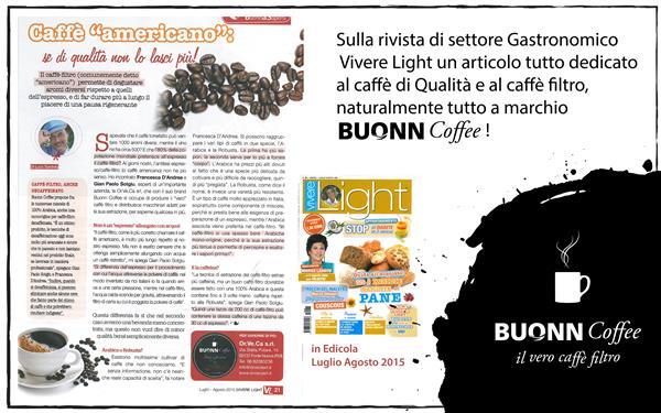 """Su Vivere Light approfondimento sul Caffè Filtro """"Americano"""" Buonn Coffee distribuito dalla Diba 70"""