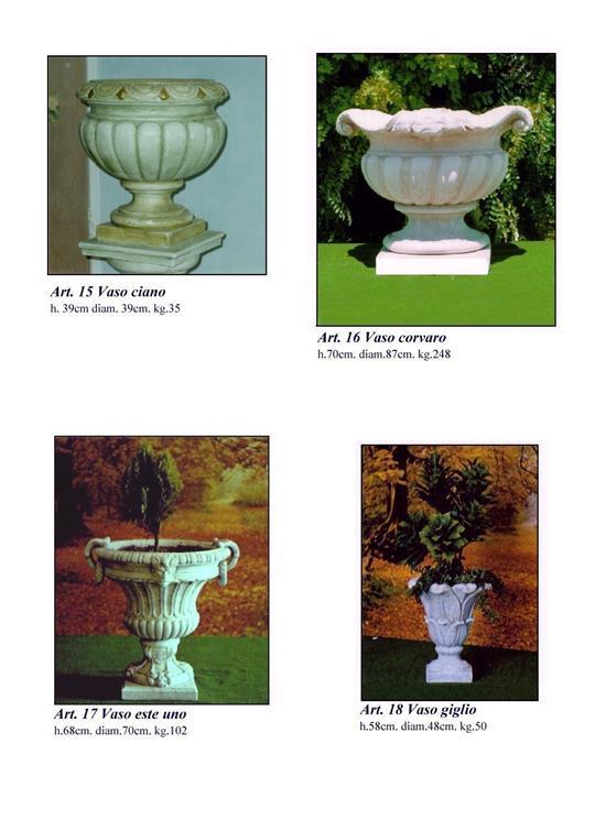 tutti i nostri vasi in cemento per giardino sono in offerta con uno sconto del 20 per i clienti di pagine si