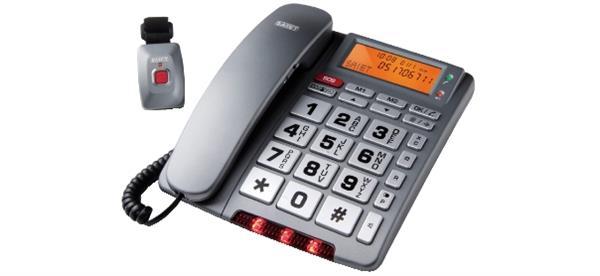 telefono per anziani a filo con telecomando sos