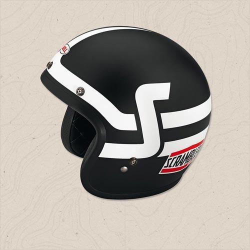 casco jet short track scrambler ducati nero bianco by bell