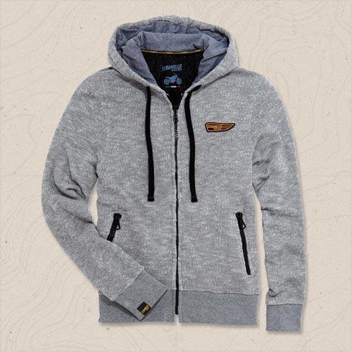 felpa con cappuccio wing hoodie scrambler ducati