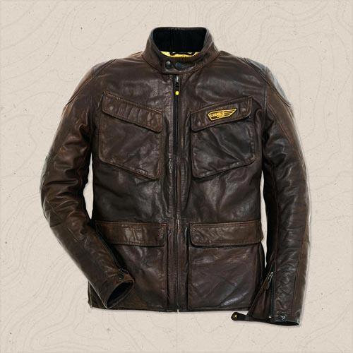 giacca quattrotasche in pelle scrambler ducati by dainese