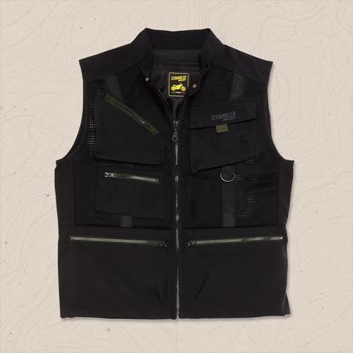 gilet overland in tessuto scrambler ducati by dainese