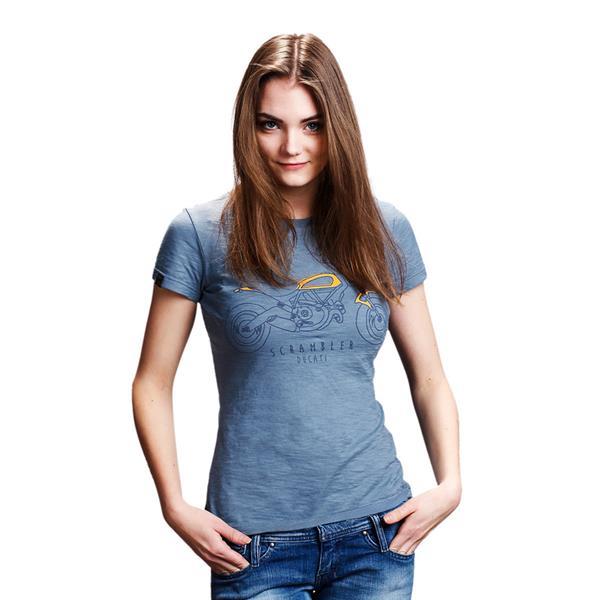 t shirt heritage lady scrambler ducati