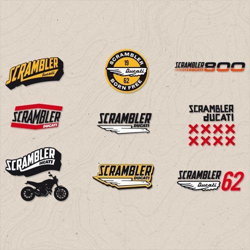 adesivi lifestyle logo scrambler ducati