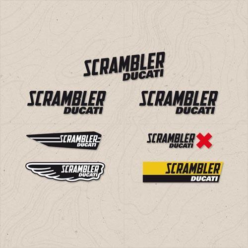 adesivi multi logo scrambler ducati