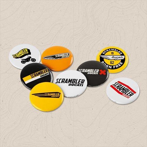 set spilline pin logos scrambler ducati