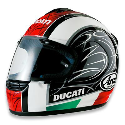 casco ducati arai stripes