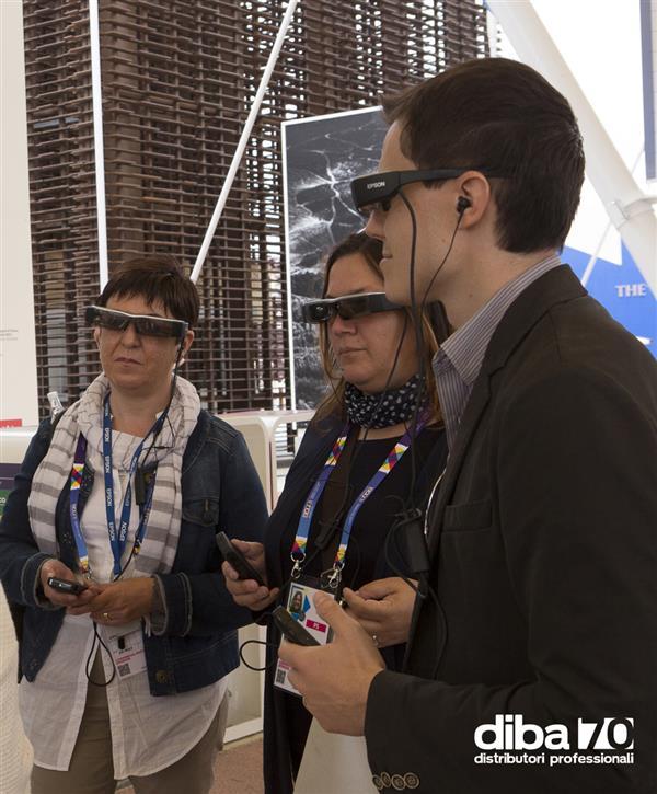 Visita con gli smartglass al cluster caffè di Expo con illycaffè - Diba 70 distributori professionali, rassegna stampa
