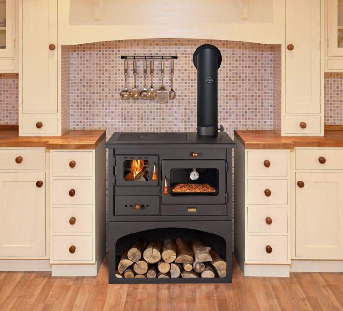 offerta cucina a legna prity mia promozione stufa forno. Black Bedroom Furniture Sets. Home Design Ideas