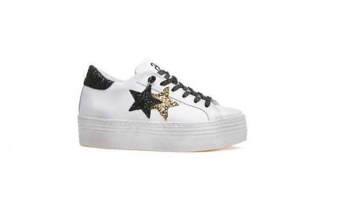sneakers alta bianca 2Star donna a Bari - SiHappy b34c3bd0416