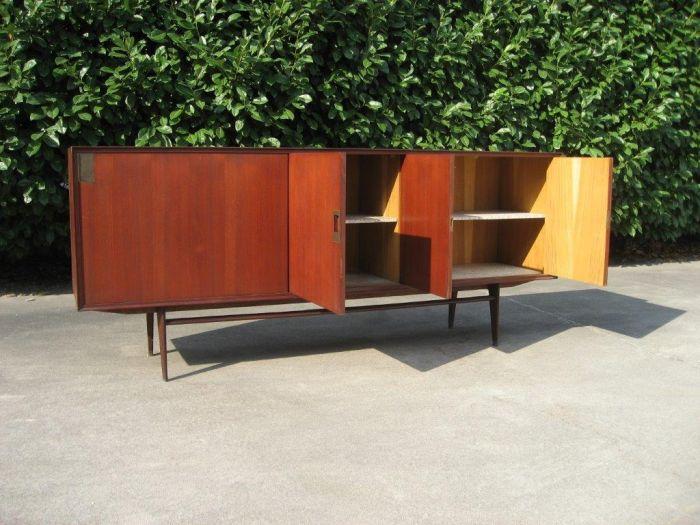 Credenza Danese : Sideboard credenza madia legno quercia design danese anni
