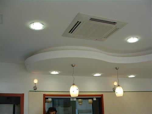 Controsoffittature in gesso moderne con luce diffusa a for Controsoffittature in cartongesso moderne