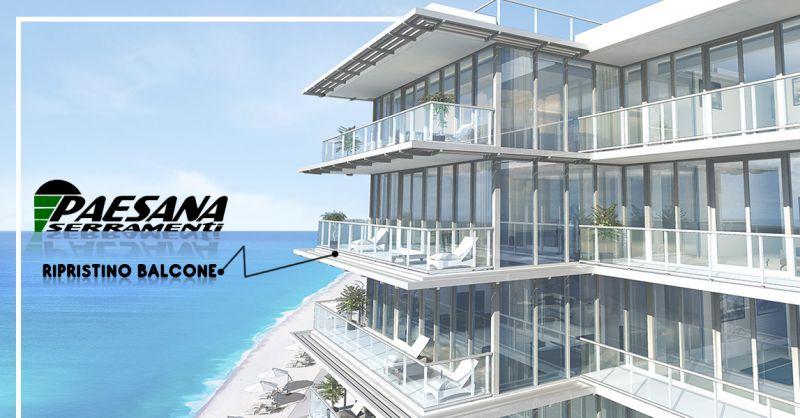 PAESANA SERRAMENTI Offerta ripristino balcone casa Padernello di Paese provincia di Treviso