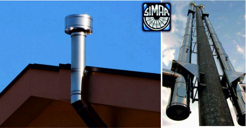 SIMAR offerta canne fumarie uso abitativo - occasione canne fumarie uso industriale