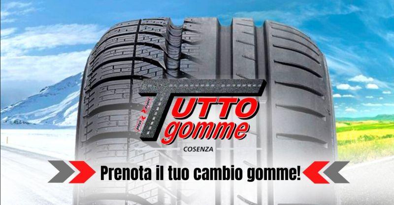 Offerta servizio professionale cambio gomme Cosenza - occasione sostituzione gomme auto Cosenza