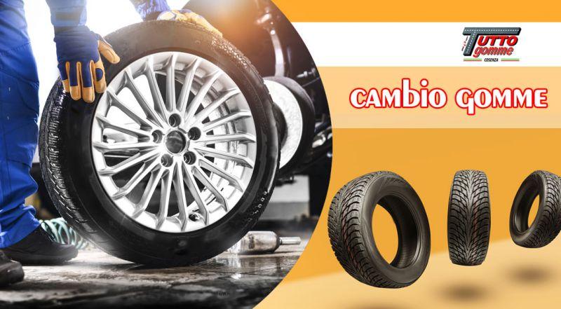 Tuttogomme - offerta cambio e controllo pneumatici auto cosenza