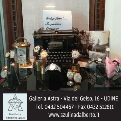 gioielleria adalberto szulin offerta vendita orologi occasione gioielli uomo e donna udine