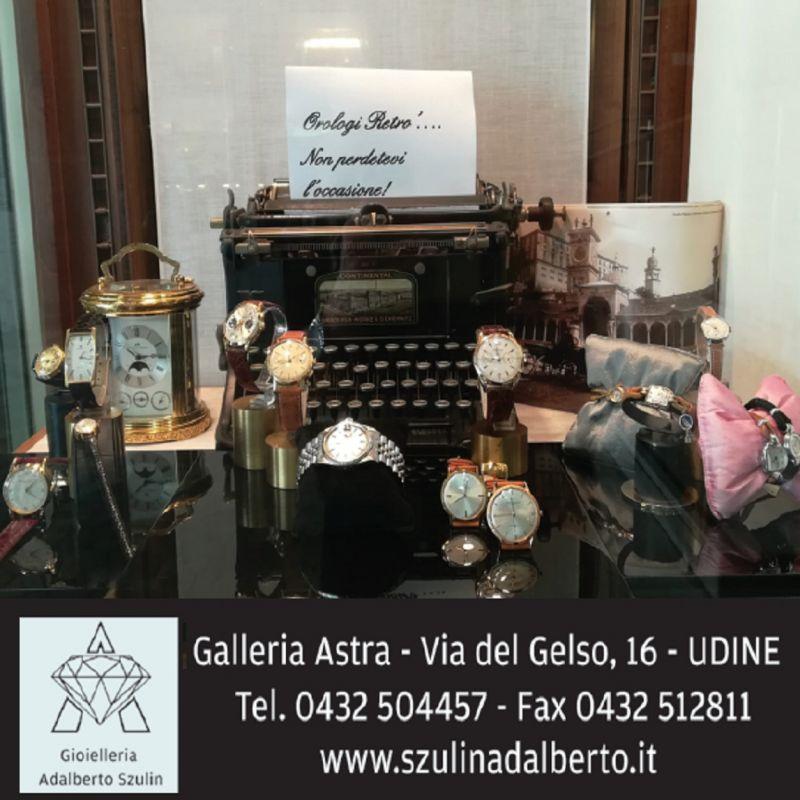 Gioielleria Adalberto Szulin offerta vendita orologi - occasione gioielli uomo e donna Udine
