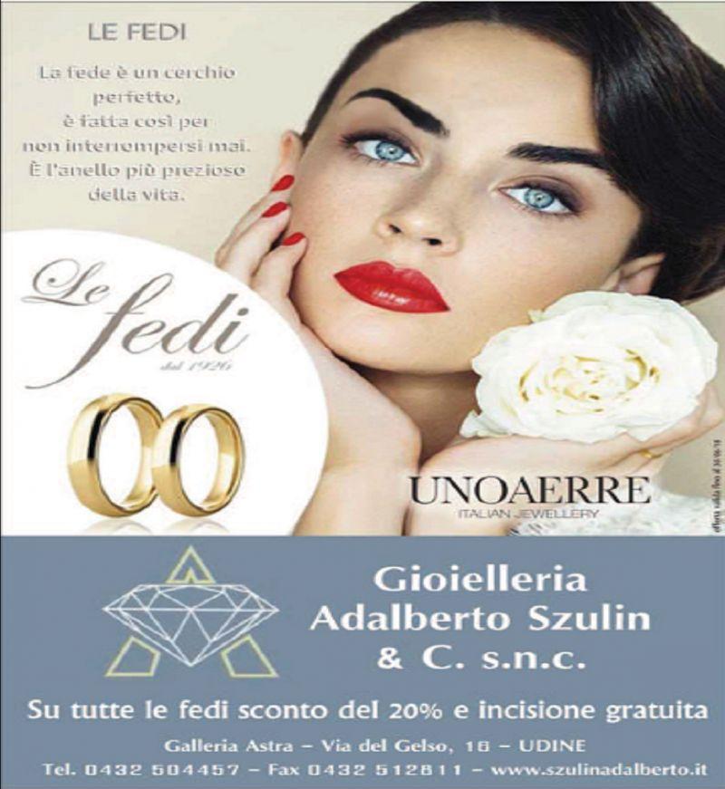 Gioielleria Adalberto Szulin occasione vendita gioielli-offerta realizzazione fedi matrimoniali