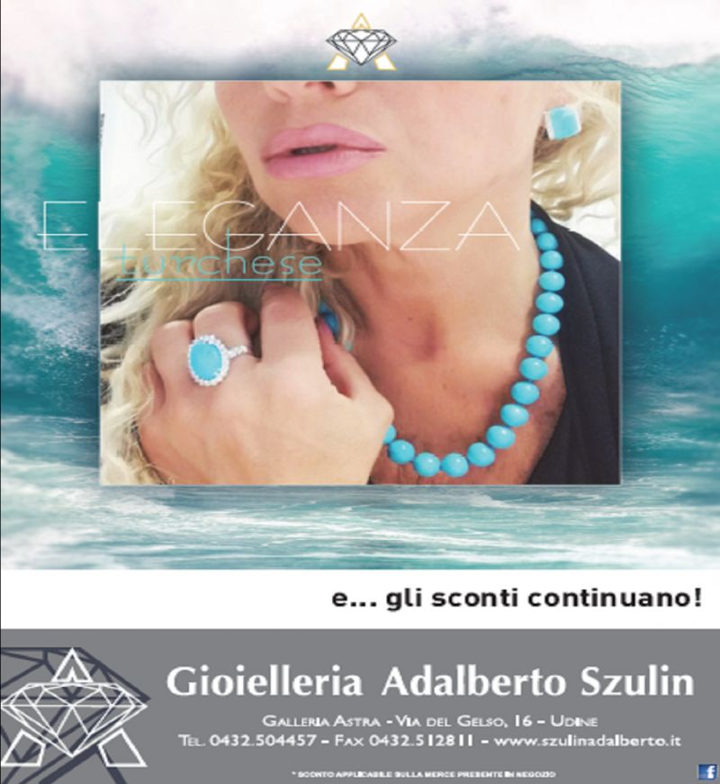 Gioielleria Adalberto Szulin offerta vendita gioielli - occasione gioiello in turchese donna