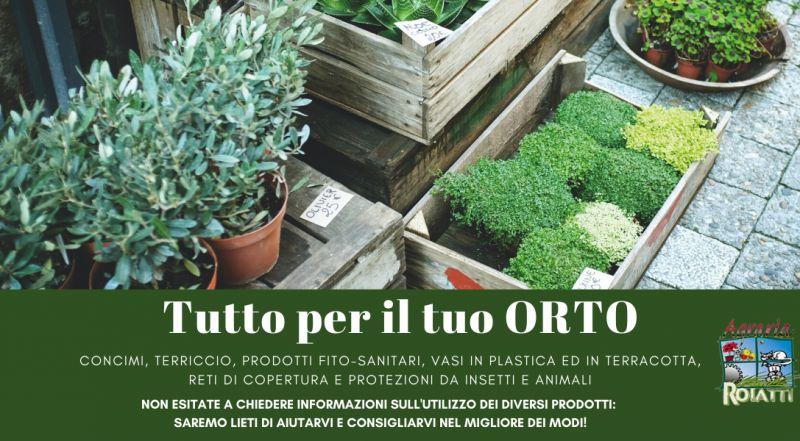 Vendita sementi per l'orto e per il giardino, concimi, terriccio, prodotti fito-sanitari a Udine – Occasione vendita vasi in plastica ed in terracotta, reti di copertura e protezioni da insetti e animali a Udine