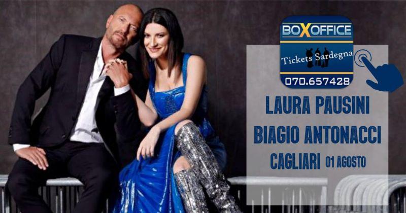 BOX OFFICE Sardegna - offerta biglietti concerto Laura Pausini e Biagio Antonacci
