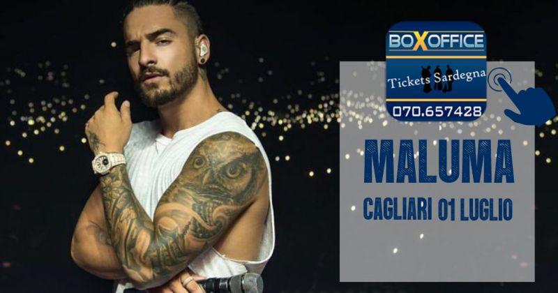 BOX OFFICE Sardegna - offerta biglietti concerto Maluma Cagliari