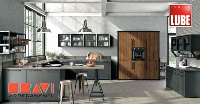 offerta vendita cucina di design Lube Piacenza - occasione cucina moderna con isola Piacenza