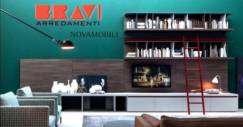 offerta vendita libreria con porta tv Piacenza - occasione vendita arredamento per soggiorno