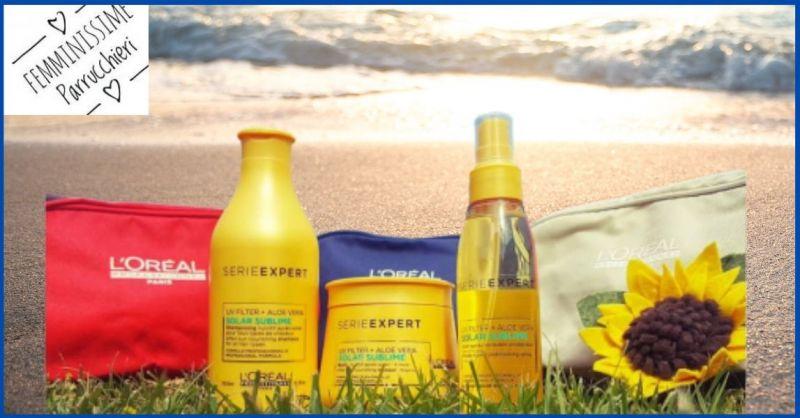 FEMMINISSIME UNISEX - promozione prodotti protezione capelli da sole e dal cloro