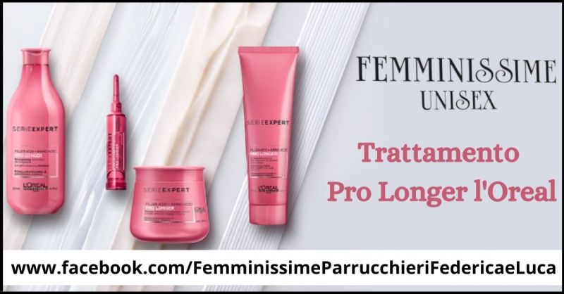 offerta trattamento pro longer l Oreal per capelli lunghi e danneggiati - Parrucchiere Unisex in Versilia