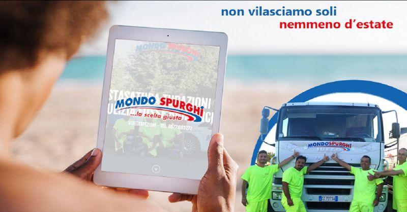promozione pronto intervento spurgo Siena 24 ore su 24 - MONDO SPURGHI