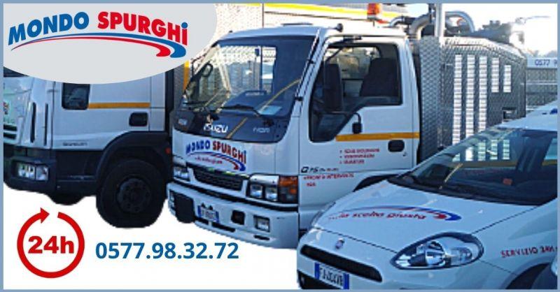 MONDO SPURGO - occasione servizio spurgo e urgenze h24 Siena