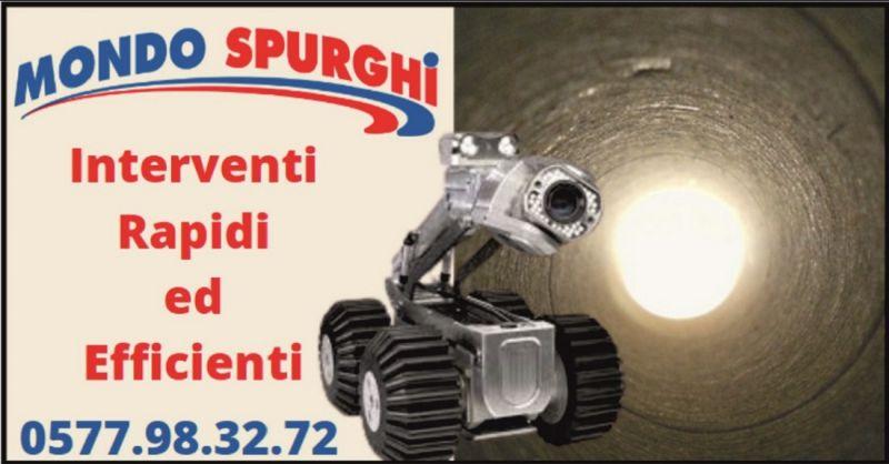 occasione videoispezioni e spurgo Siena e Arezzo – MONDO SPURGHI