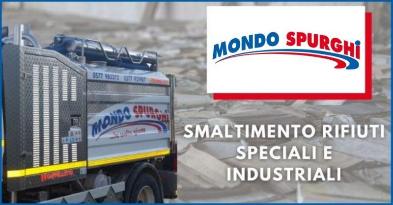 MONDO SPURGHI - offerta smaltimento rifiuti speciali industriali Siena e Arezzo