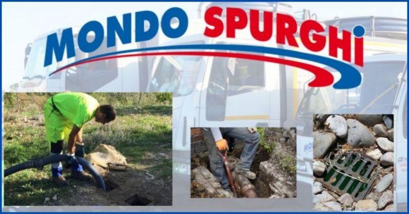 offerta spurgo condotti di scarico fognature Arezzo e Siena - MONDO SPURGHI
