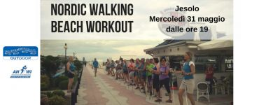 nordic walking beach workout a jesolo