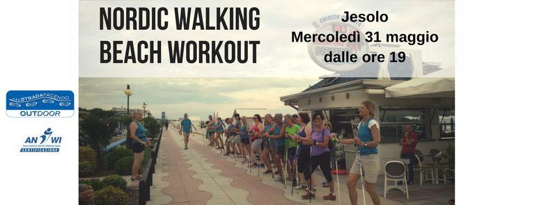 nordic walking beach workout a jesolo