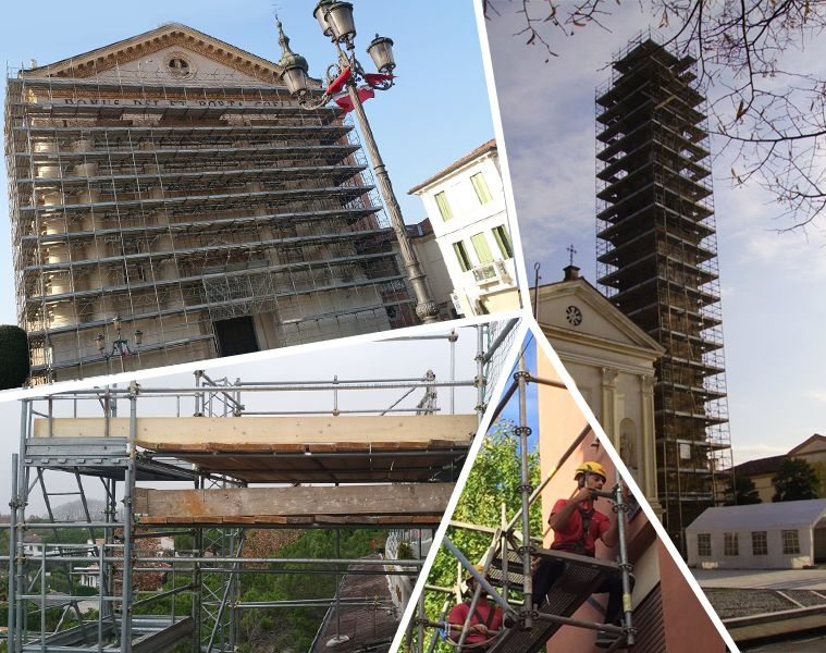 Offerta servizio montaggio ponteggi Treviso - Promozione servizio smontaggio monteggi