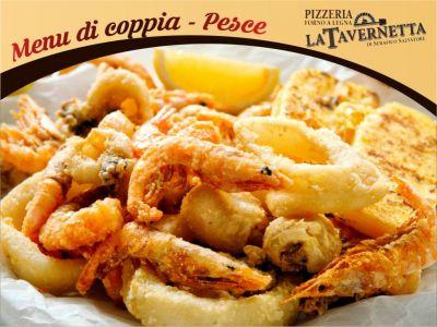 menu di pesce per coppia ristorante pizzeria la tavernetta