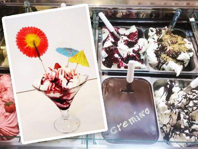 gelato artigianale dalla gelateria panna e caffe