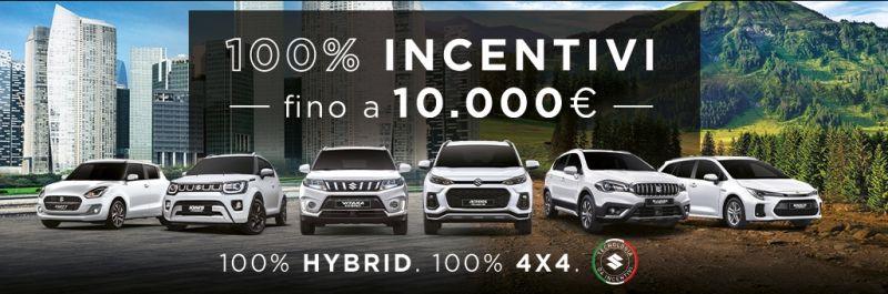 Automotori Srl - Occasione gamma Suzuki 100% Hybrid e 100% 4x4 Incentivi fino a 10.000 Euro