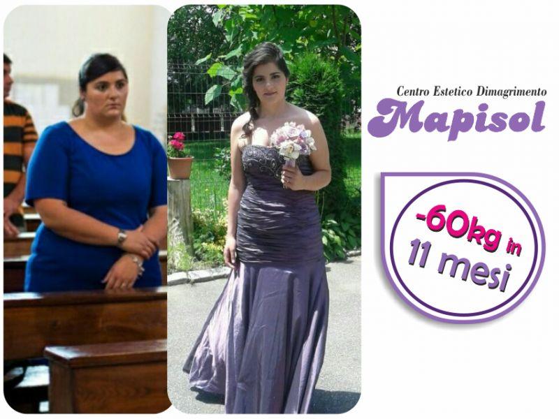 ilenia 60 kg in 11 mesi non promesse ma fatti presso mapisol a lucca