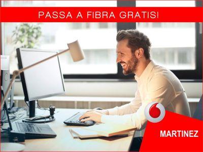 offerta passa a fibra gratis promozione vodafone passaggio a fibra vodafone store martinez
