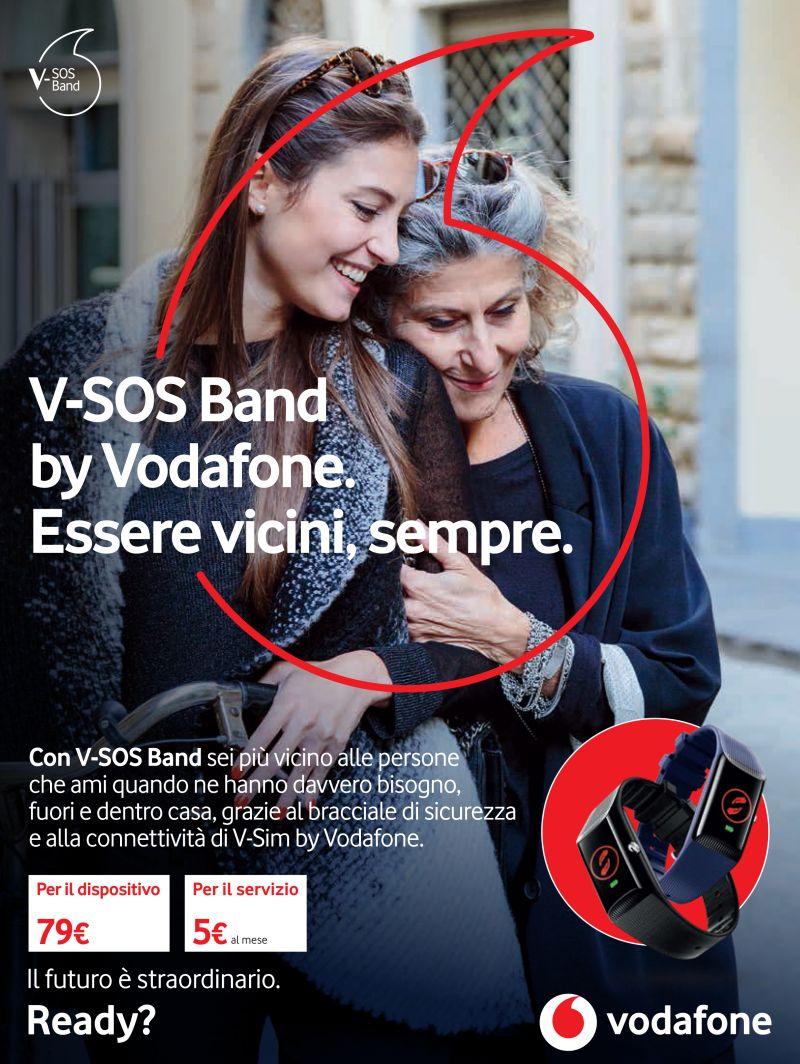 offerta V-SOS Band by Vodafone - promozione bracciale di sicurezza v.sim vodafone