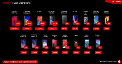 vodafone store martinez offerta red days vodafone saldi smartphone trapani