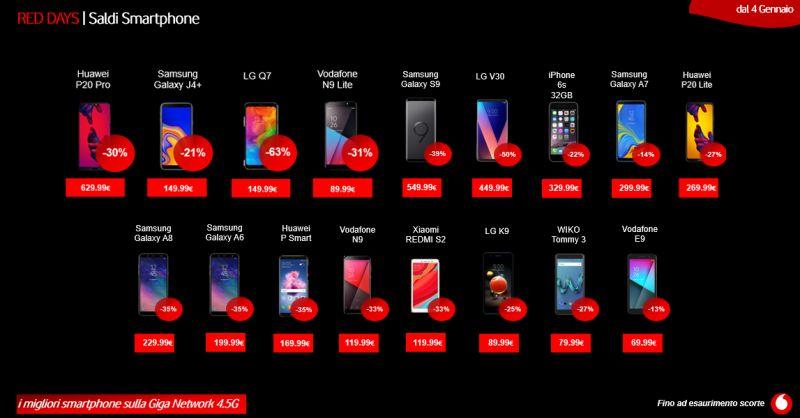 VODAFONE STORE MARTINEZ - offerta red days vodafone saldi smartphone trapani